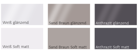 Farben Glaswaschtische CREA.flex
