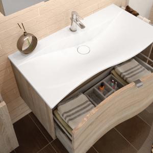 Waschtisch 101 cm, Prestige mit einem Auszug und optionalem Ordnungssystem Orga.tec