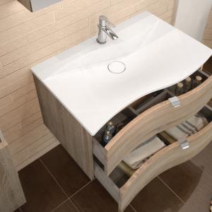 Waschtisch 81 cm, Exklusiv Ausführung mit zwei Auszügen.