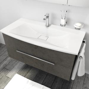 [cs1b] Waschtisch 100 cm in der Exklusiv Ausführung mit 2 Auszügen.