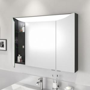 [cs1c] Spiegelschrank mit integriertem LED-Leuchtboard